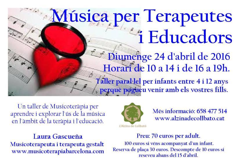 Taller de música para terapeutas y educadores